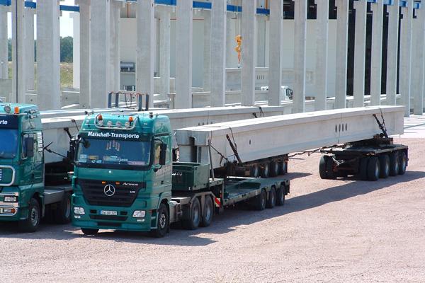 Betonbauteile - Transportservice | thomas gruppe