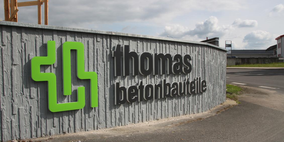 Eingang zum Betonbauteilewerk in Georgensgmünd | thomas gruppe