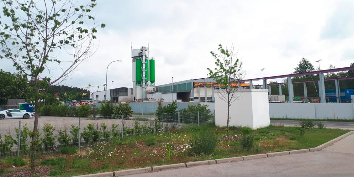 Seitenansicht des Betonbauteilewerks in Georgensgmünd | thomas gruppe