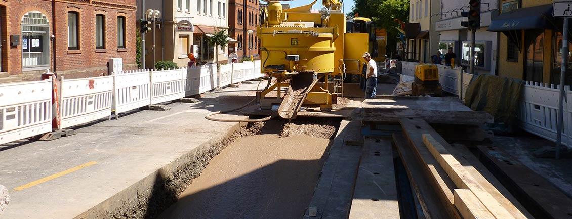 Straßenbau mit Verfüllbaustoffen | thomas gruppe