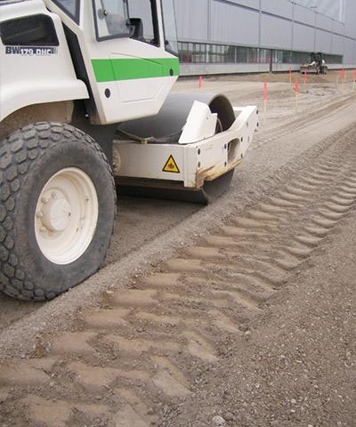 Spezialbindemittel zur Bodenverbesserung und Bodenverfestigung | rheoroad hs | thomas gruppe