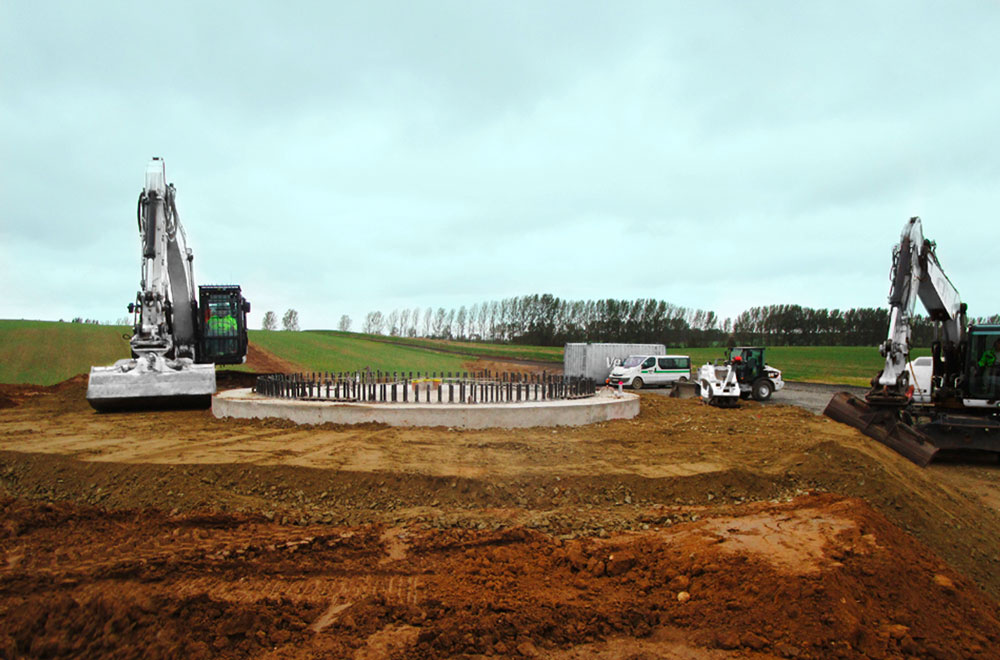 Fundamentsaushub für Windparkanlage | thomas gruppe