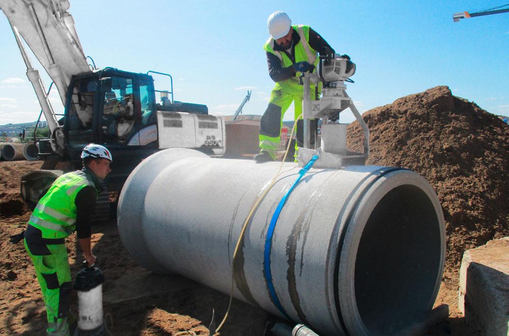 Rohr aus Beton für Kanalbau | thomas gruppe