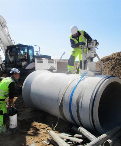 Rohr aus Beton für Kanalbau   thomas gruppe