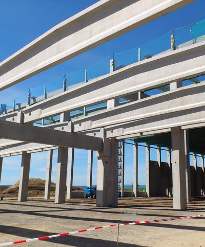 Binder aus Beton für den Industriebau | thomas gruppe