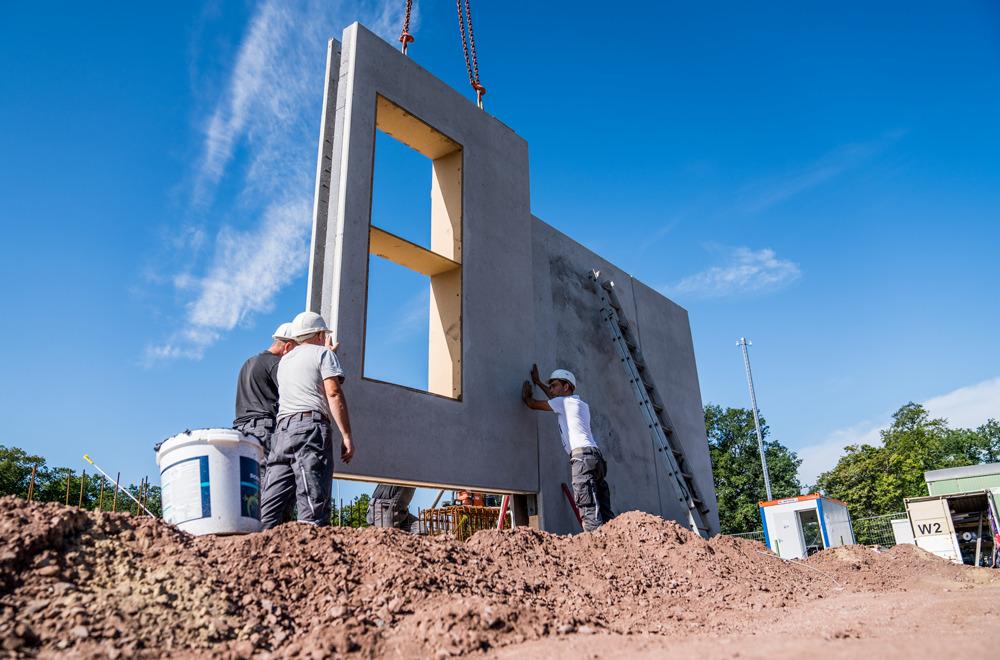 Kerngedämmte Elementwände aus Beton | thomas gruppe