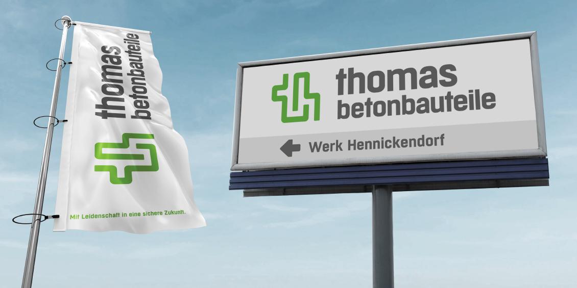 Logo thomas betonbauteile | thomas gruppe